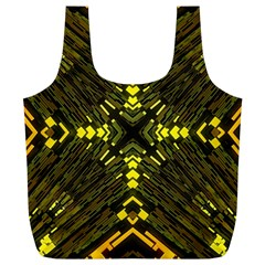 Abstract Glow Kaleidoscopic Light Full Print Recycle Bags (l)