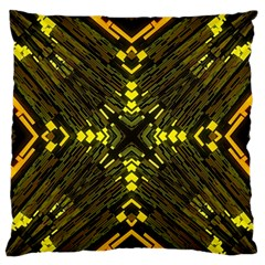 Abstract Glow Kaleidoscopic Light Large Flano Cushion Case (One Side)
