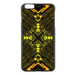 Abstract Glow Kaleidoscopic Light Apple Iphone 6 Plus/6s Plus Black Enamel Case