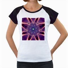 Abstract Glow Kaleidoscopic Light Women s Cap Sleeve T