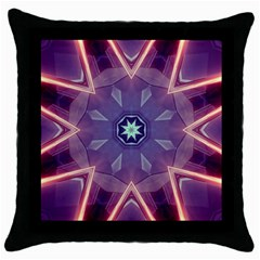 Abstract Glow Kaleidoscopic Light Throw Pillow Case (Black)