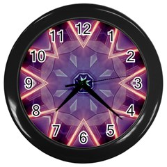 Abstract Glow Kaleidoscopic Light Wall Clocks (Black)