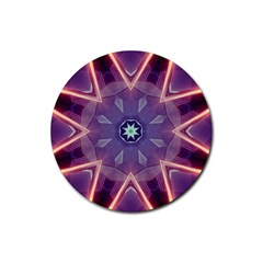 Abstract Glow Kaleidoscopic Light Rubber Round Coaster (4 pack)