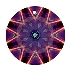 Abstract Glow Kaleidoscopic Light Round Ornament (two Sides)
