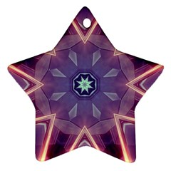 Abstract Glow Kaleidoscopic Light Star Ornament (Two Sides)