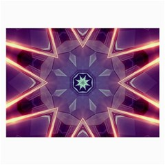 Abstract Glow Kaleidoscopic Light Large Glasses Cloth