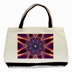 Abstract Glow Kaleidoscopic Light Basic Tote Bag (Two Sides)