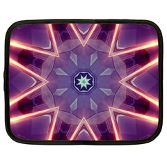 Abstract Glow Kaleidoscopic Light Netbook Case (large)