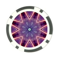 Abstract Glow Kaleidoscopic Light Poker Chip Card Guard (10 Pack)