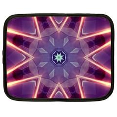 Abstract Glow Kaleidoscopic Light Netbook Case (XXL)