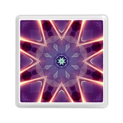 Abstract Glow Kaleidoscopic Light Memory Card Reader (square)