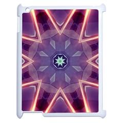 Abstract Glow Kaleidoscopic Light Apple iPad 2 Case (White)