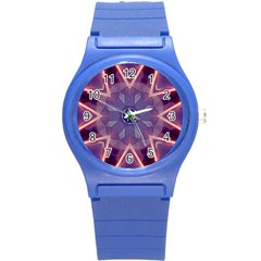 Abstract Glow Kaleidoscopic Light Round Plastic Sport Watch (s)