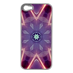 Abstract Glow Kaleidoscopic Light Apple Iphone 5 Case (silver)