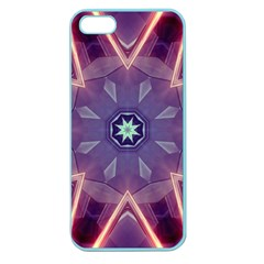 Abstract Glow Kaleidoscopic Light Apple Seamless iPhone 5 Case (Color)