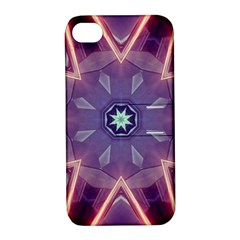 Abstract Glow Kaleidoscopic Light Apple iPhone 4/4S Hardshell Case with Stand