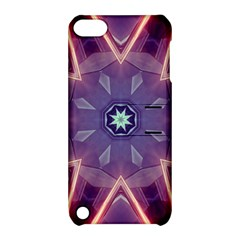 Abstract Glow Kaleidoscopic Light Apple iPod Touch 5 Hardshell Case with Stand