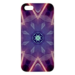 Abstract Glow Kaleidoscopic Light Apple Iphone 5 Premium Hardshell Case