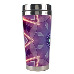 Abstract Glow Kaleidoscopic Light Stainless Steel Travel Tumblers