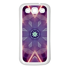 Abstract Glow Kaleidoscopic Light Samsung Galaxy S3 Back Case (white)