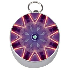 Abstract Glow Kaleidoscopic Light Silver Compasses