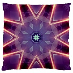 Abstract Glow Kaleidoscopic Light Large Flano Cushion Case (Two Sides)