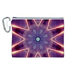 Abstract Glow Kaleidoscopic Light Canvas Cosmetic Bag (L)