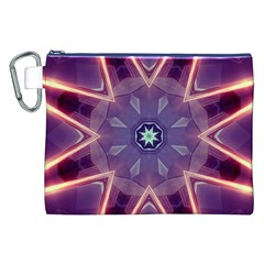 Abstract Glow Kaleidoscopic Light Canvas Cosmetic Bag (XXL)