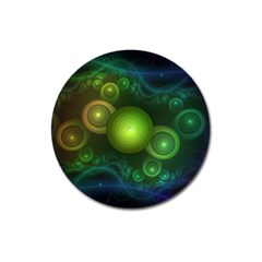 Retrotacular Rainbow Dots in a Fractal Microscope Magnet 3  (Round)