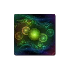 Retrotacular Rainbow Dots In A Fractal Microscope Square Magnet