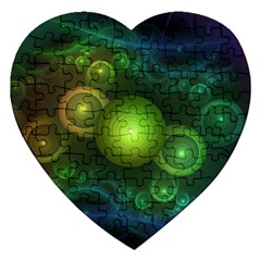 Retrotacular Rainbow Dots in a Fractal Microscope Jigsaw Puzzle (Heart)