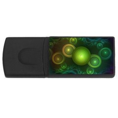 Retrotacular Rainbow Dots in a Fractal Microscope USB Flash Drive Rectangular (4 GB)