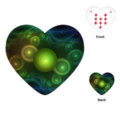 Retrotacular Rainbow Dots in a Fractal Microscope Playing Cards (Heart)