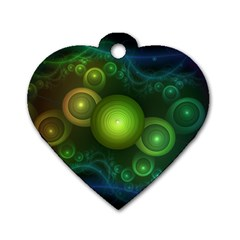 Retrotacular Rainbow Dots in a Fractal Microscope Dog Tag Heart (One Side)