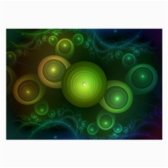 Retrotacular Rainbow Dots in a Fractal Microscope Large Glasses Cloth (2-Side)