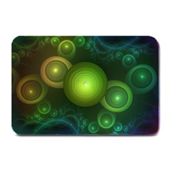 Retrotacular Rainbow Dots in a Fractal Microscope Plate Mats