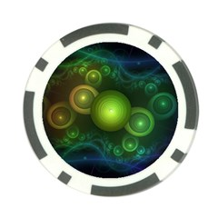 Retrotacular Rainbow Dots in a Fractal Microscope Poker Chip Card Guard (10 pack)