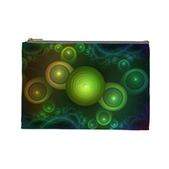 Retrotacular Rainbow Dots in a Fractal Microscope Cosmetic Bag (Large)