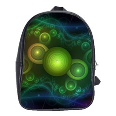 Retrotacular Rainbow Dots in a Fractal Microscope School Bags(Large)