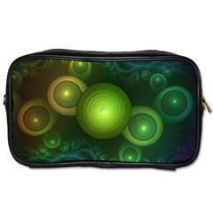 Retrotacular Rainbow Dots in a Fractal Microscope Toiletries Bags 2-Side