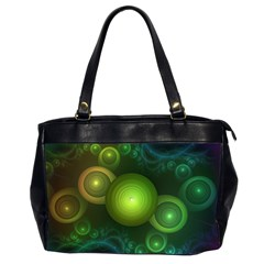 Retrotacular Rainbow Dots in a Fractal Microscope Office Handbags (2 Sides)