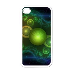 Retrotacular Rainbow Dots in a Fractal Microscope Apple iPhone 4 Case (White)