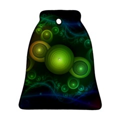 Retrotacular Rainbow Dots in a Fractal Microscope Bell Ornament (Two Sides)