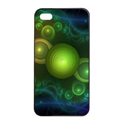Retrotacular Rainbow Dots in a Fractal Microscope Apple iPhone 4/4s Seamless Case (Black)