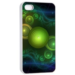 Retrotacular Rainbow Dots in a Fractal Microscope Apple iPhone 4/4s Seamless Case (White)