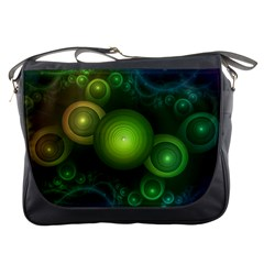 Retrotacular Rainbow Dots in a Fractal Microscope Messenger Bags