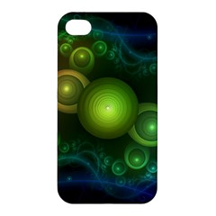 Retrotacular Rainbow Dots in a Fractal Microscope Apple iPhone 4/4S Premium Hardshell Case