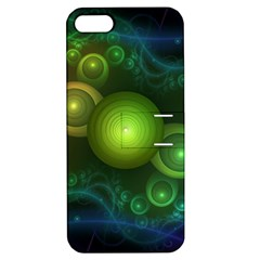 Retrotacular Rainbow Dots in a Fractal Microscope Apple iPhone 5 Hardshell Case with Stand