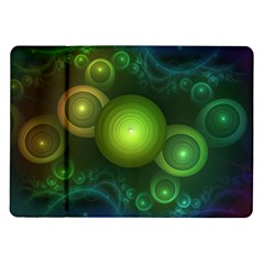Retrotacular Rainbow Dots In A Fractal Microscope Samsung Galaxy Tab 10 1  P7500 Flip Case