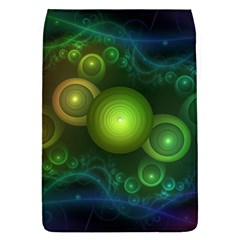 Retrotacular Rainbow Dots in a Fractal Microscope Flap Covers (L)